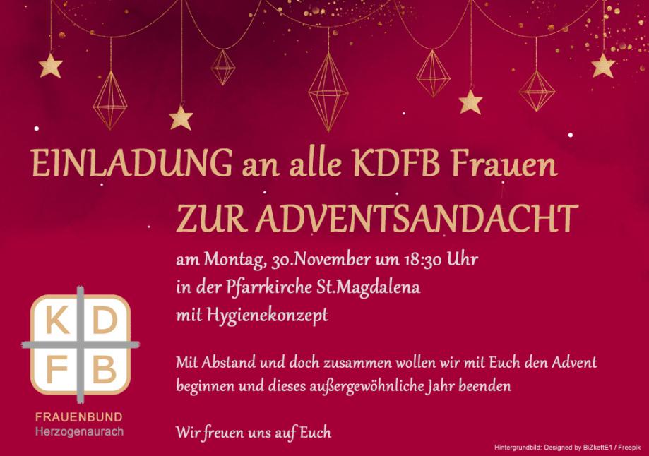 KDFB Herzogenaurach - Einladung Adventsfeier